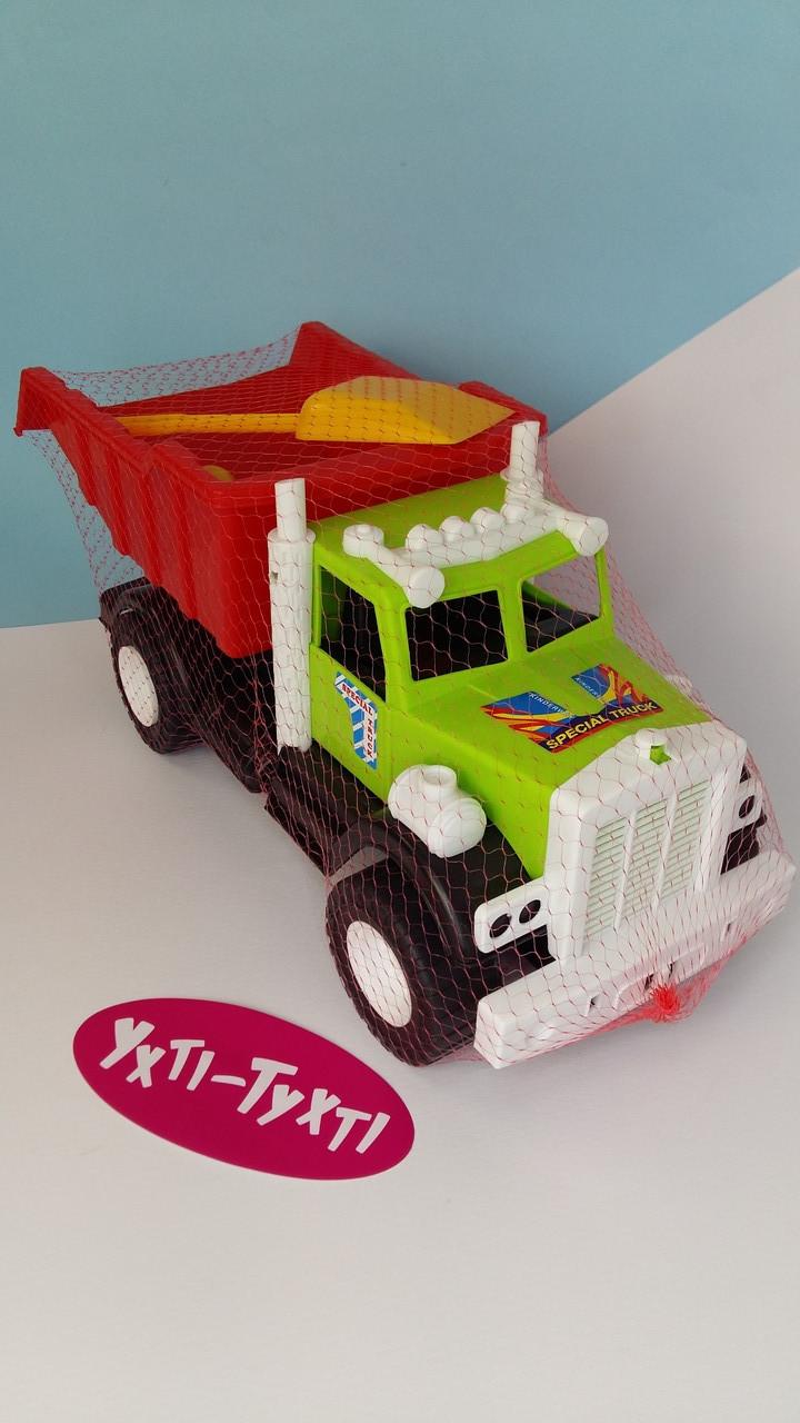Вантажівка + пісочний набір лопатка і формочки 12-010