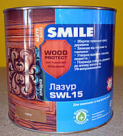 Лазурь  антисептирующая  для дерева Wood Protect SWL 15 Smile ( 2,3 л), фото 1