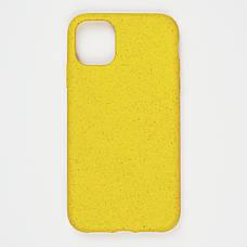 Биоразлагаемый чехол ECO Wheat Straw для iPhone 11 Pro Yellow, фото 2