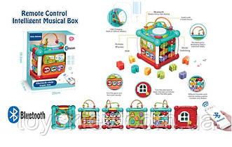 Игровой бизикуб 9933 (12шт) пульт р у, каждая панель активна фигурки-вкладыши, сортер, змейка, пульт