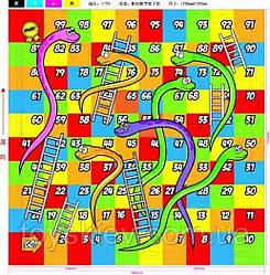 Коврик пазл EVA1657 (10шт) змейка 4 детали, 60*60 см