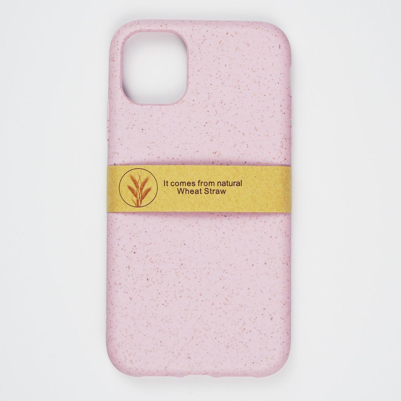 Биоразлагаемый чехол ECO Wheat Straw для iPhone 11 Pro Pink