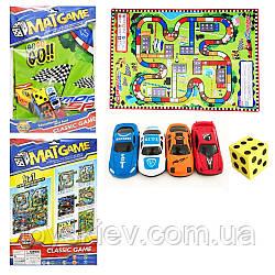 """Игровой коврик RC222-3 (72шт 2)""""Rally"""",машинки, в пакете 40*28см"""
