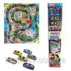 """Игровой коврик RC888-3 (72шт 2)""""Rally"""",машинки, в коробке 40*10см"""
