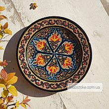 Узбекская тарелка точечная техника d 17 см. Риштан (4)