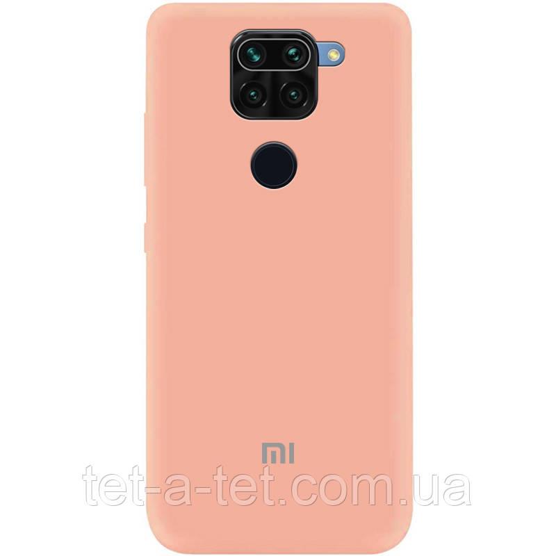 Чехол Silicone Cover Full для Xiaomi Redmi Note 9 Pink Flamingo