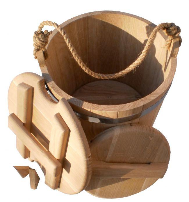Ведро дубовое для солений (15 литров)
