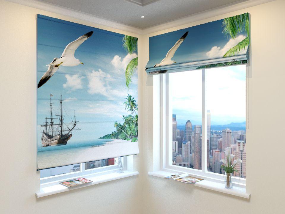 Римські штори морські чайки