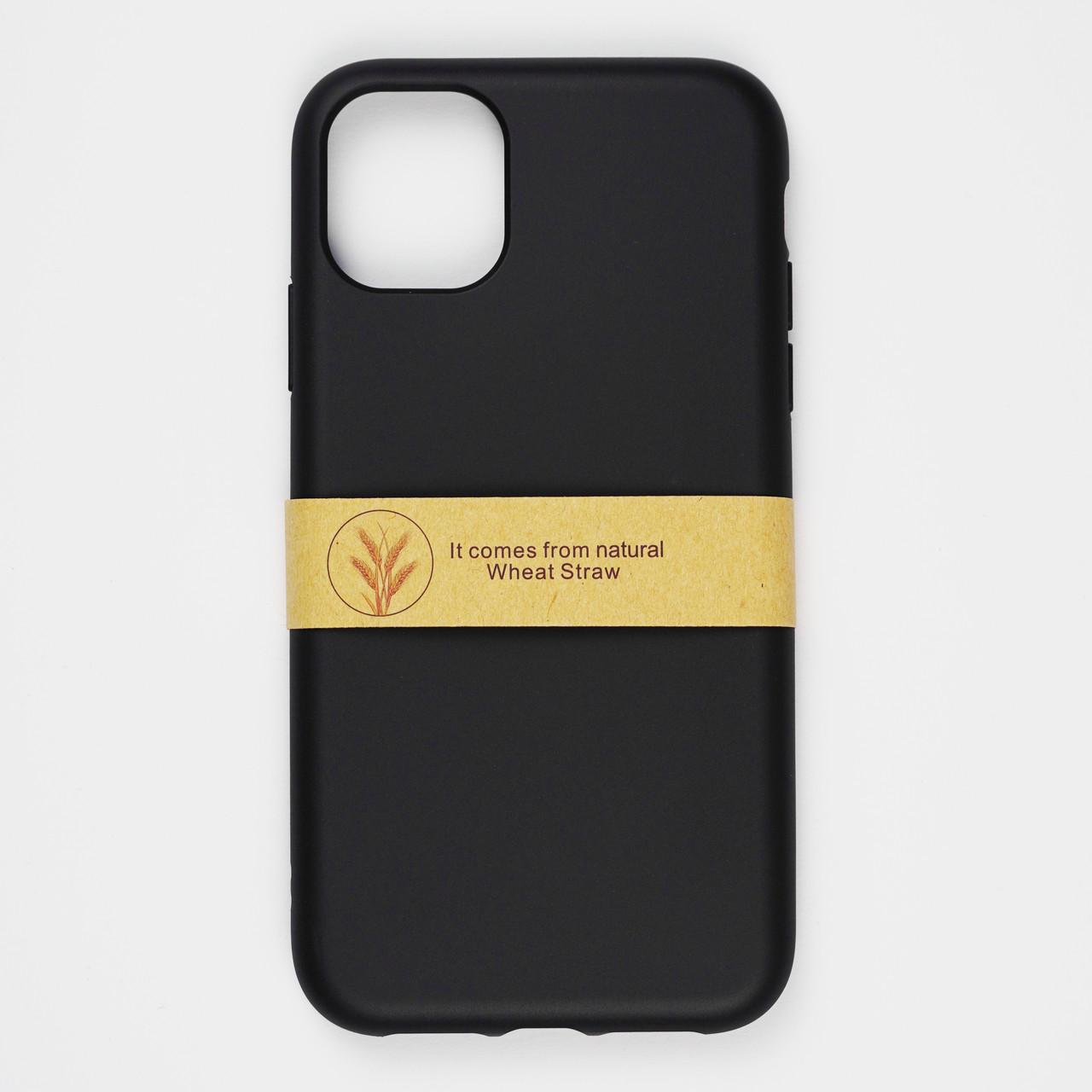 Биоразлагаемый чехол ECO Wheat Straw для iPhone 11 Black
