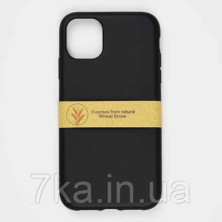 Биоразлагаемый чехол ECO Wheat Straw для iPhone 11 Black, фото 2