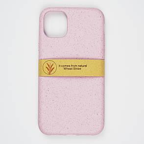Биоразлагаемый чехол ECO Wheat Straw для iPhone 11 Pink, фото 2