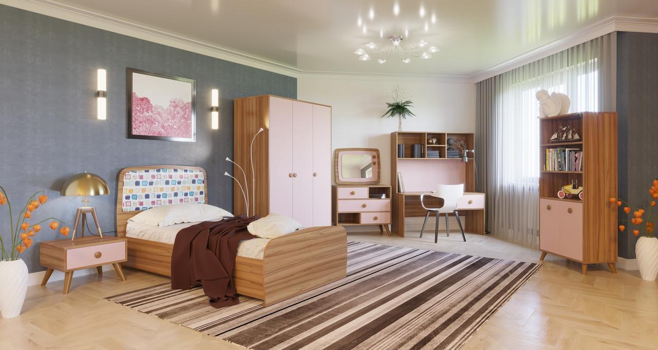 Детская комната Колибри,орех марино/розовый, Свит меблив