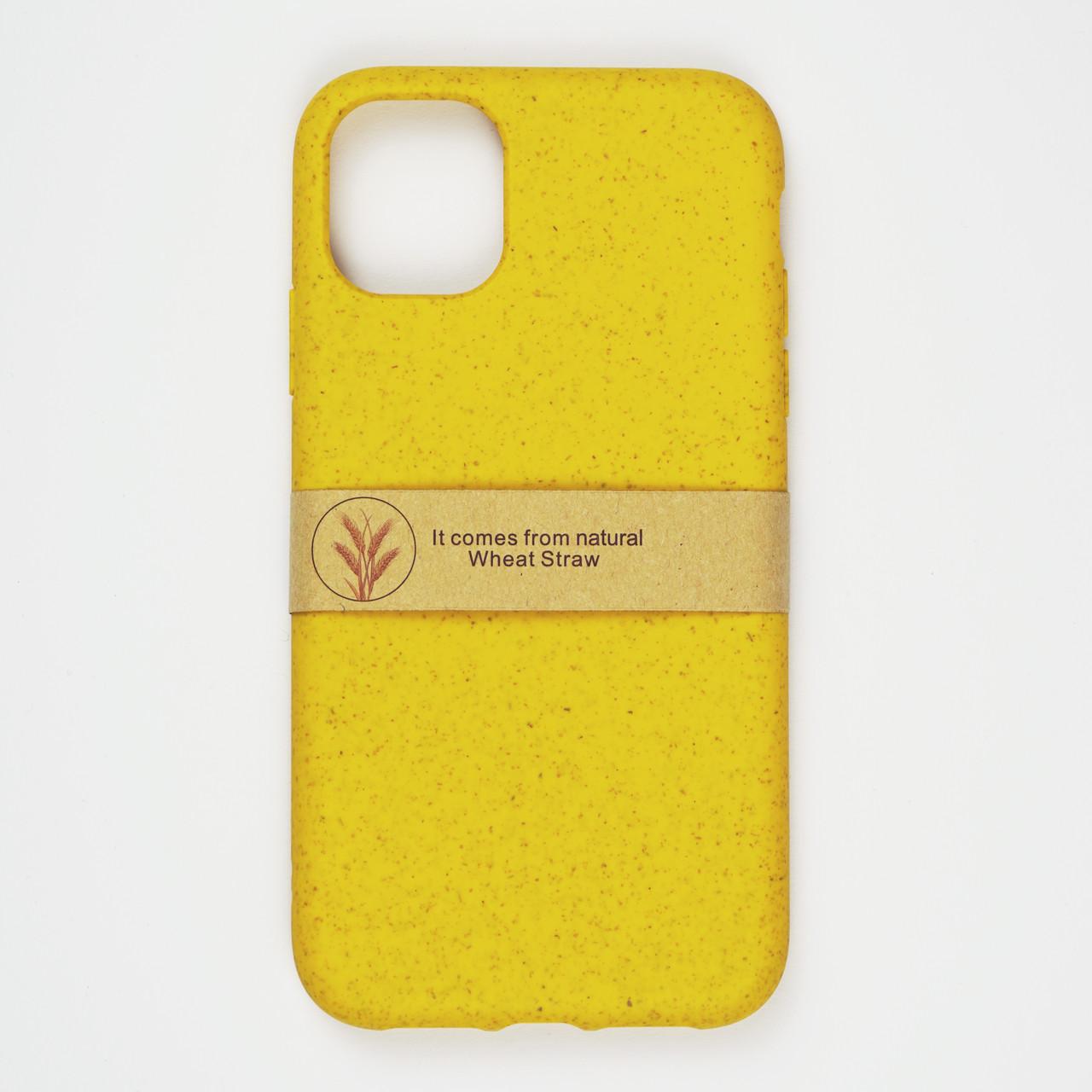 Биоразлагаемый чехол ECO Wheat Straw для iPhone 11 Pro Max Yellow
