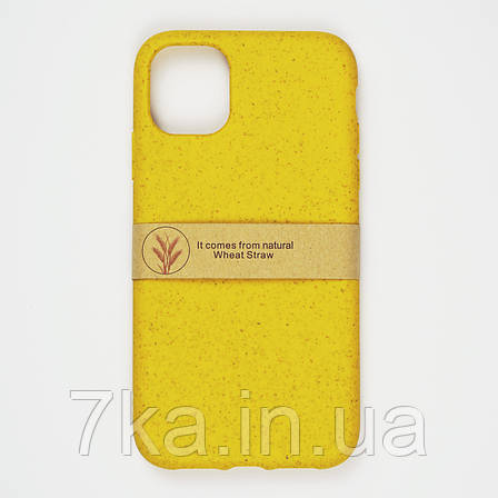 Биоразлагаемый чехол ECO Wheat Straw для iPhone 11 Pro Max Yellow, фото 2
