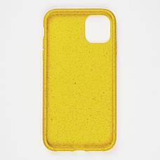 Биоразлагаемый чехол ECO Wheat Straw для iPhone 11 Pro Max Yellow, фото 3