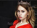 Game of thrones - Кругла корона з камінням чорного, сірого та кольору шампань, перлинами (6см), фото 10