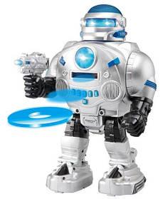 Робот интерактивный на радиоуправлении стреляет дисками. В коробке