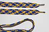 Шнурки плоские 12мм, василек + желтый