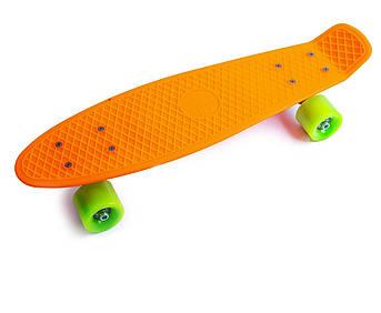 Penny Board Помаранчевий колір Матові колеса