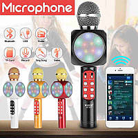 Беспроводной портативный микрофон WSTER WS-1816 для караоке с подсветкой Bluetooth