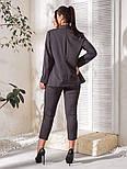 Костюм женский двойка (пиджак и бриджи) большого размера, фото 4