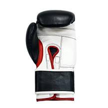 Рукавички боксерські THOR SHARK 10oz /Шкіра /чорні, фото 2