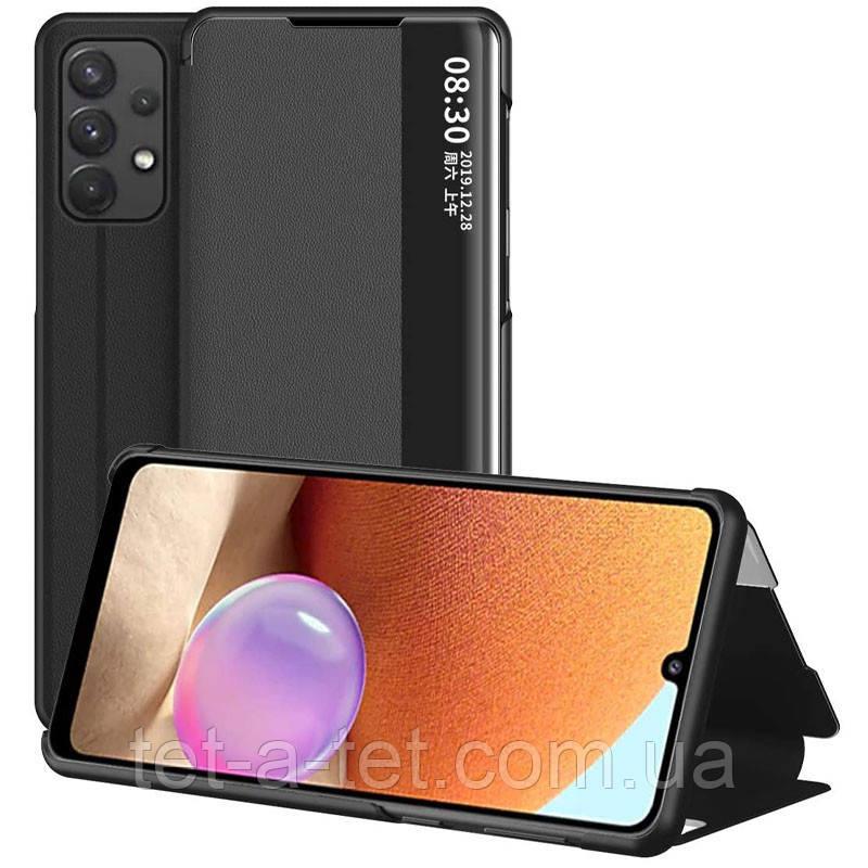 Чехол-книжка Smart View Cover для Samsung A32 Black (черный)