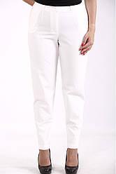 Білі брюки батал жіночі класичні