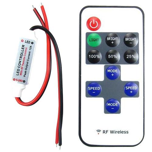 Бездротовий контролер 1к LED стрічок, 12-24В, 6А