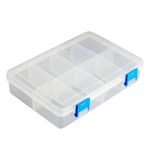 Коробка органайзер кейс для снастей бисера 195х125x46мм 8 ячеек