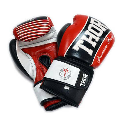 Рукавички боксерські THOR THUNDER 16oz /PU /червоні, фото 2