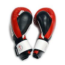Рукавички боксерські THOR THUNDER 16oz /PU /червоні, фото 3
