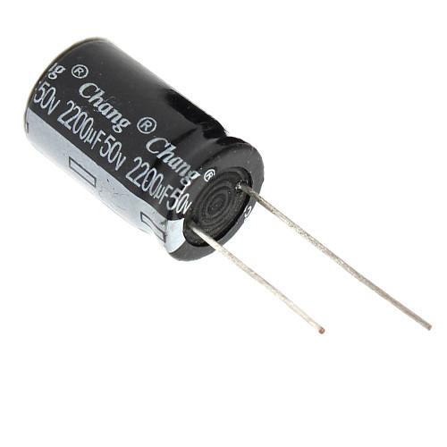 10x Конденсатор электролитический алюминиевый 2200мкФ 50В 105С