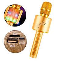 Микрофон караоке беспроводной с колонкой Bluetooth USB YS-66, цветомузыка