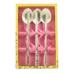 Металлические палочки для еды «Серебряный набор»