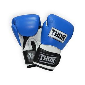 Перчатки боксерские THOR PRO KING 14oz /PU /сине-бело-черные, фото 2