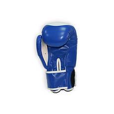 Рукавички боксерські THOR COMPETITION 14oz /PU /синьо-білі, фото 2