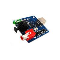 Внешний аудио USB ЦАП, звуковая карта PCM2704, фото 1