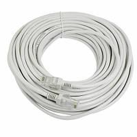 Патч-корд RJ45 17м, мережевий кабель UTP CAT5e 8P8C, LAN, синій