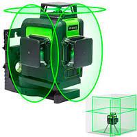 Професійний лазерний рівень нівелір 12 ліній 360град АКБ Huepar 903CG