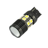 LED T20 W21W лампа в автомобиль, 12 SMD 5050, 1 Cree Q5, белый