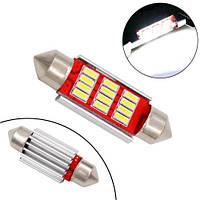 LED C5W C10W 36мм лампа в автомобіль, 12 SMD 4014, з обманкою Canbus, білий
