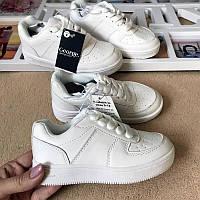 Белые кроссовки  сильные  для девочки р31 george, стелька 20 см
