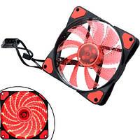 Вентилятор корпусный 120мм 12В кулер с красной подсветкой для ПК 12025