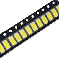 100x 5630 5730 SMD LED 3В 0.5Вт 50-55лм світлодіод, білий