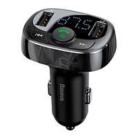 Автомобильный FM-модулятор Bluetooth 4.2 Handsfree 2x USB Baseus S-09A
