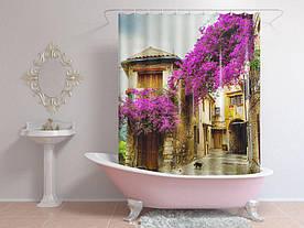 Штори для ванної будинку в кольорах