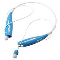 Навушники бездротові Bluetooth гарнітура HBS-730 з шийним обідком, блакитні