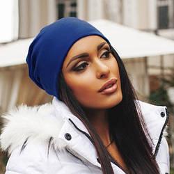 Женская шапка трикотажная, фото 2