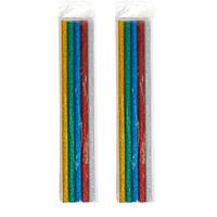 Клей декоративний, стрижні кольорові для клейового пістолета 7мм, 10шт 65г